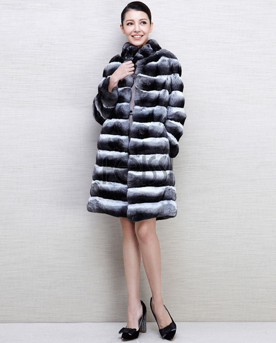 Chinchilla Fur Coat 563a