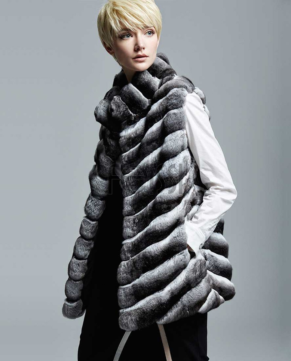 Chinchilla Fur Vest 157a