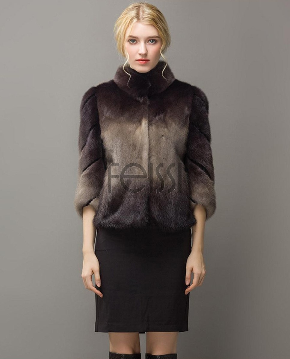 Cropped Mink Fur Jacket 748a