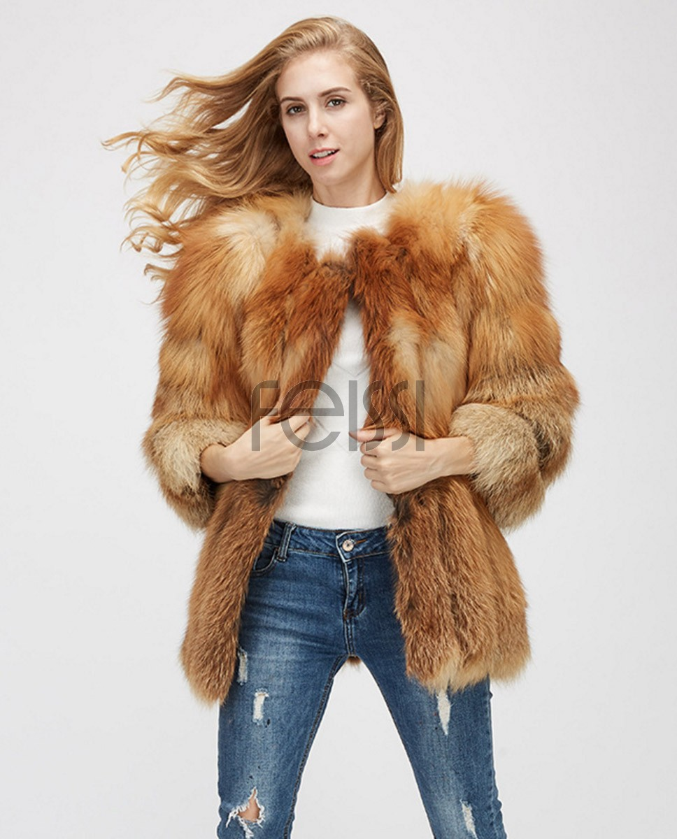 Fox Fur Coat 967a