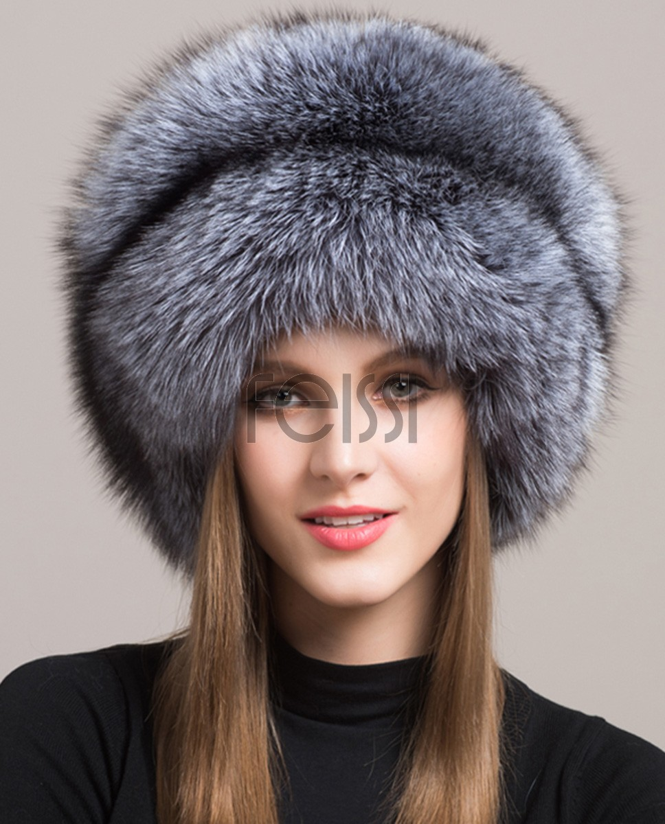 Fox Fur Hat 854 Silver 1