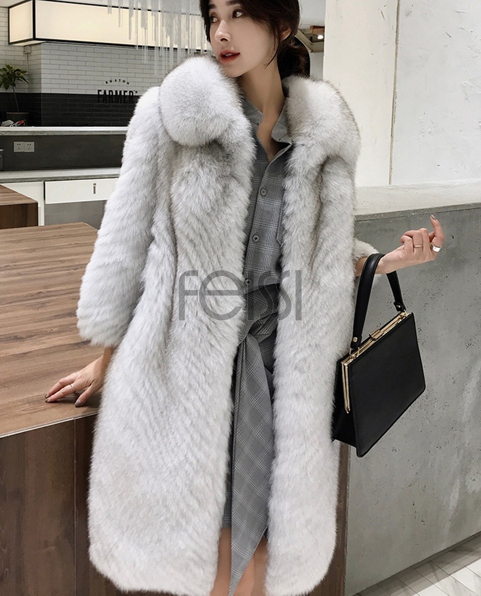 Fox Fur Long Coat 325a