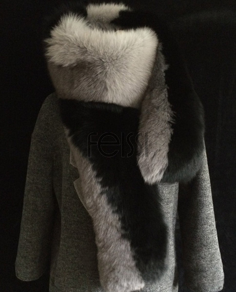 Fox Fur Wrap 835 Black 2