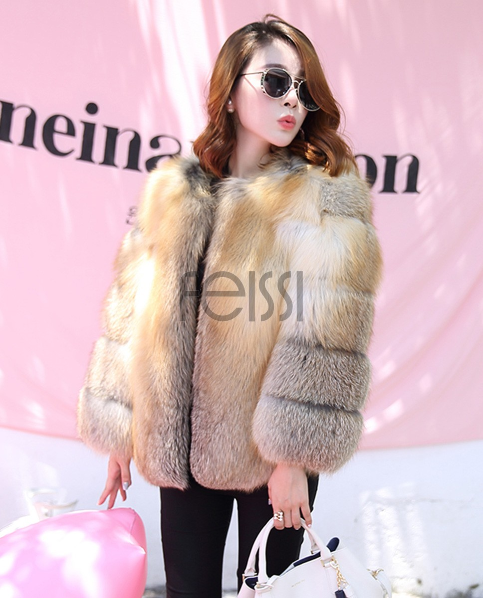 Golden Island Fox Fur Jacket 988c