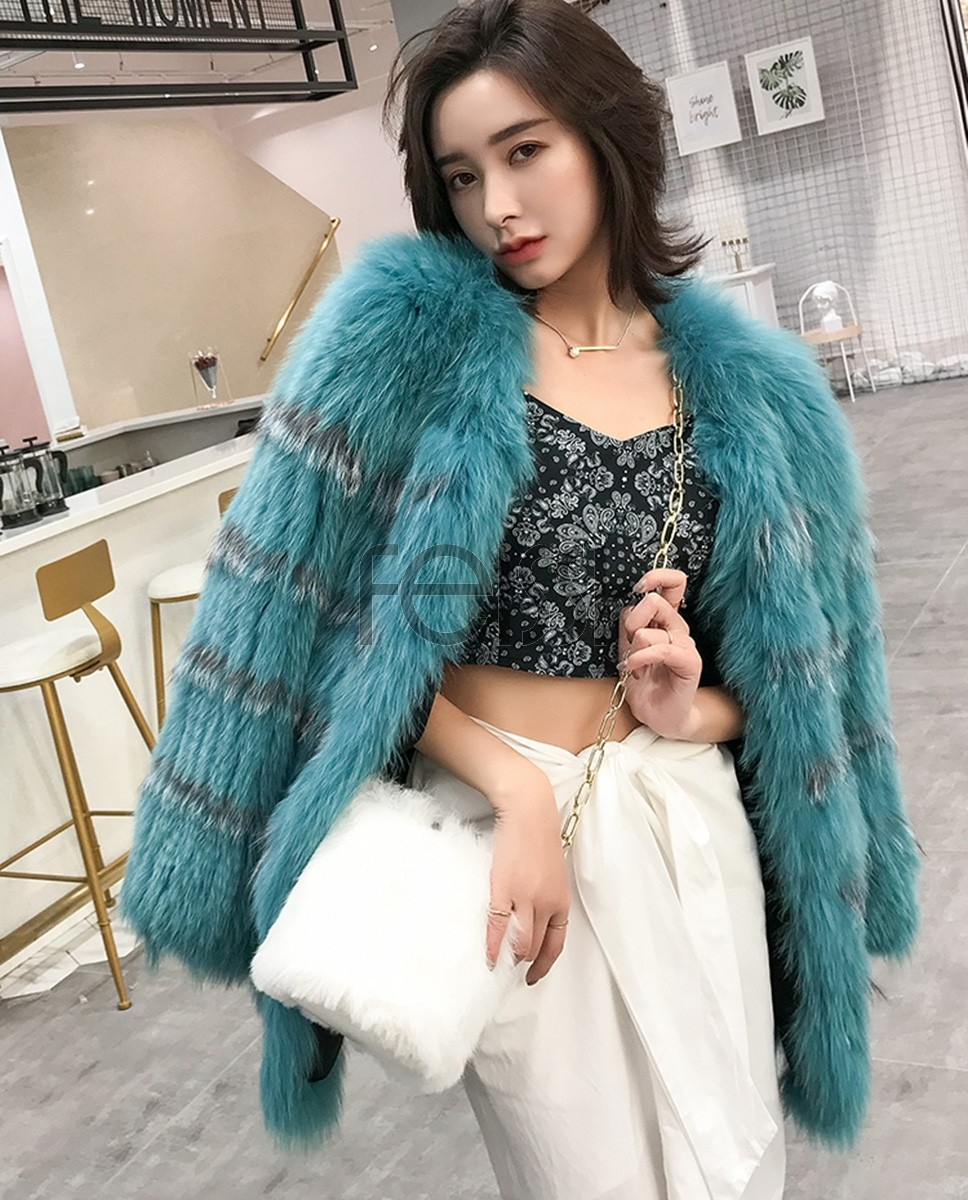 Knitted Fox Fur Jacket 302a