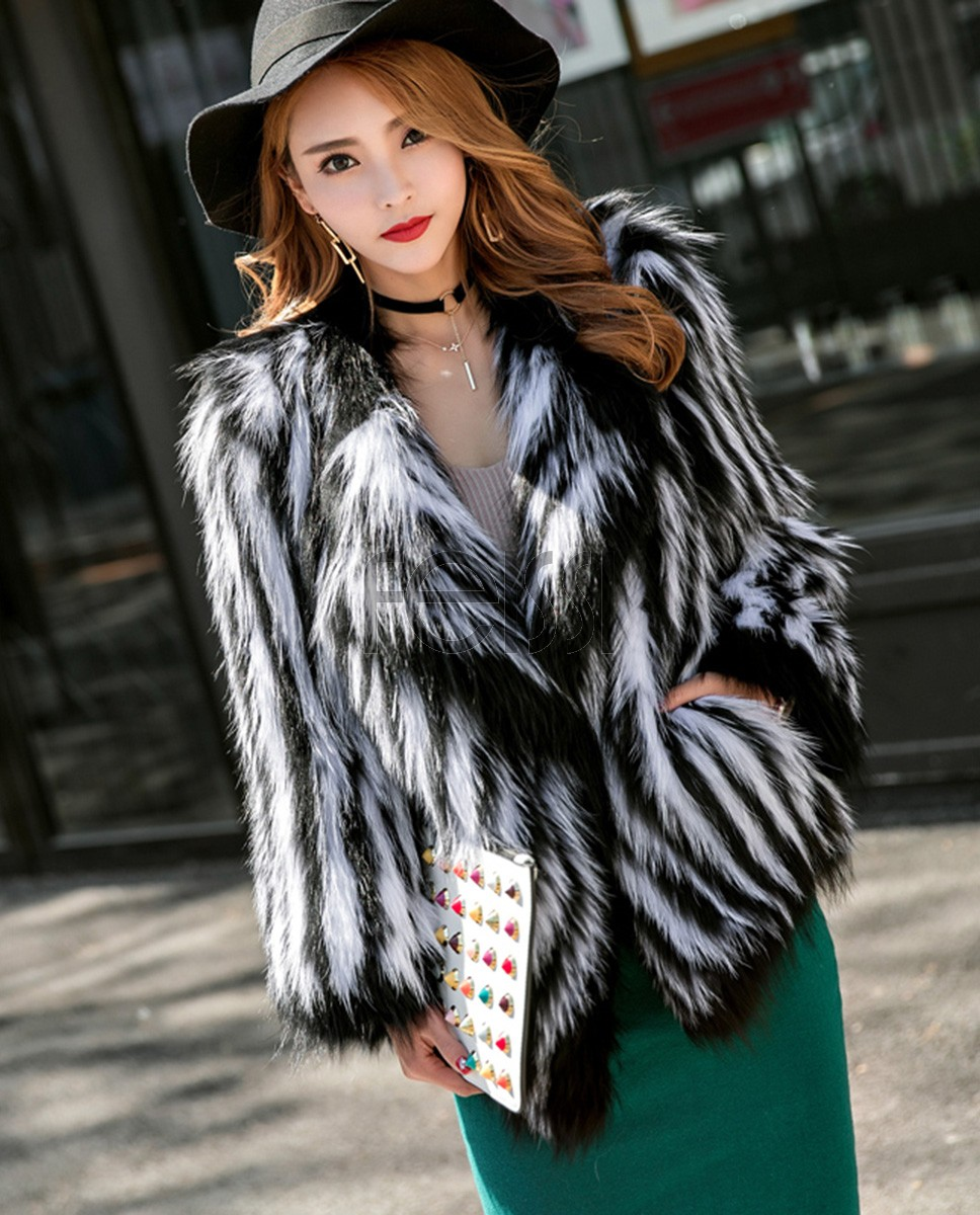 Knitted Fox Fur Jacket 977a