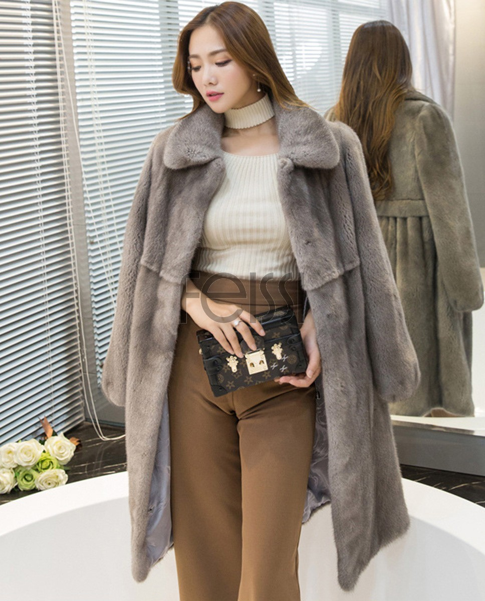 Mink Fur Coat 743 Silver-Blue 1