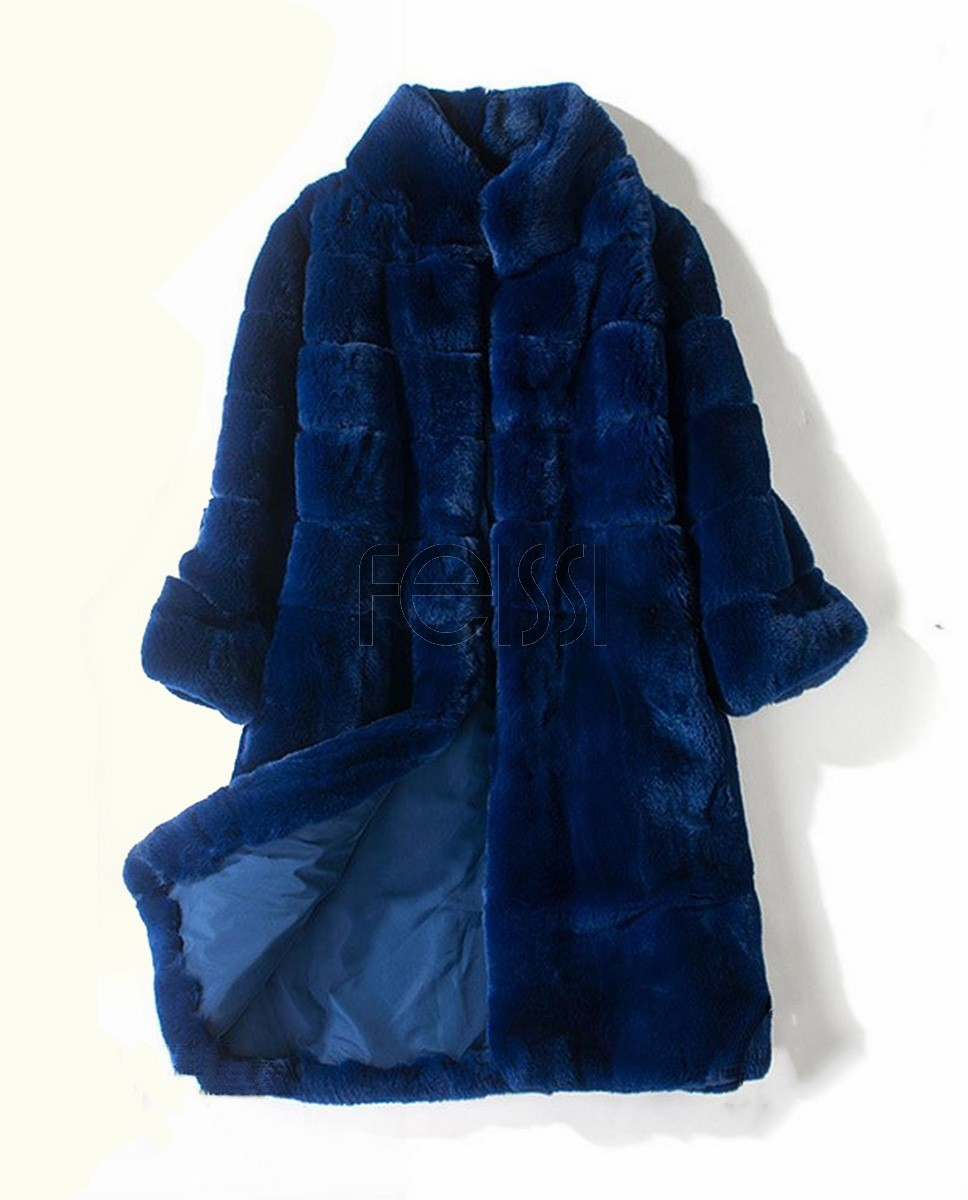 Rex Rabbit Fur Coat 715-1