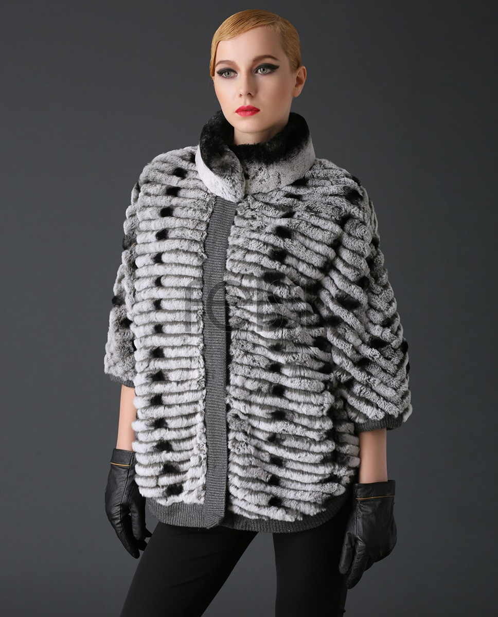 Rex Rabbit Fur Jacket with Cashmere Inner 786a