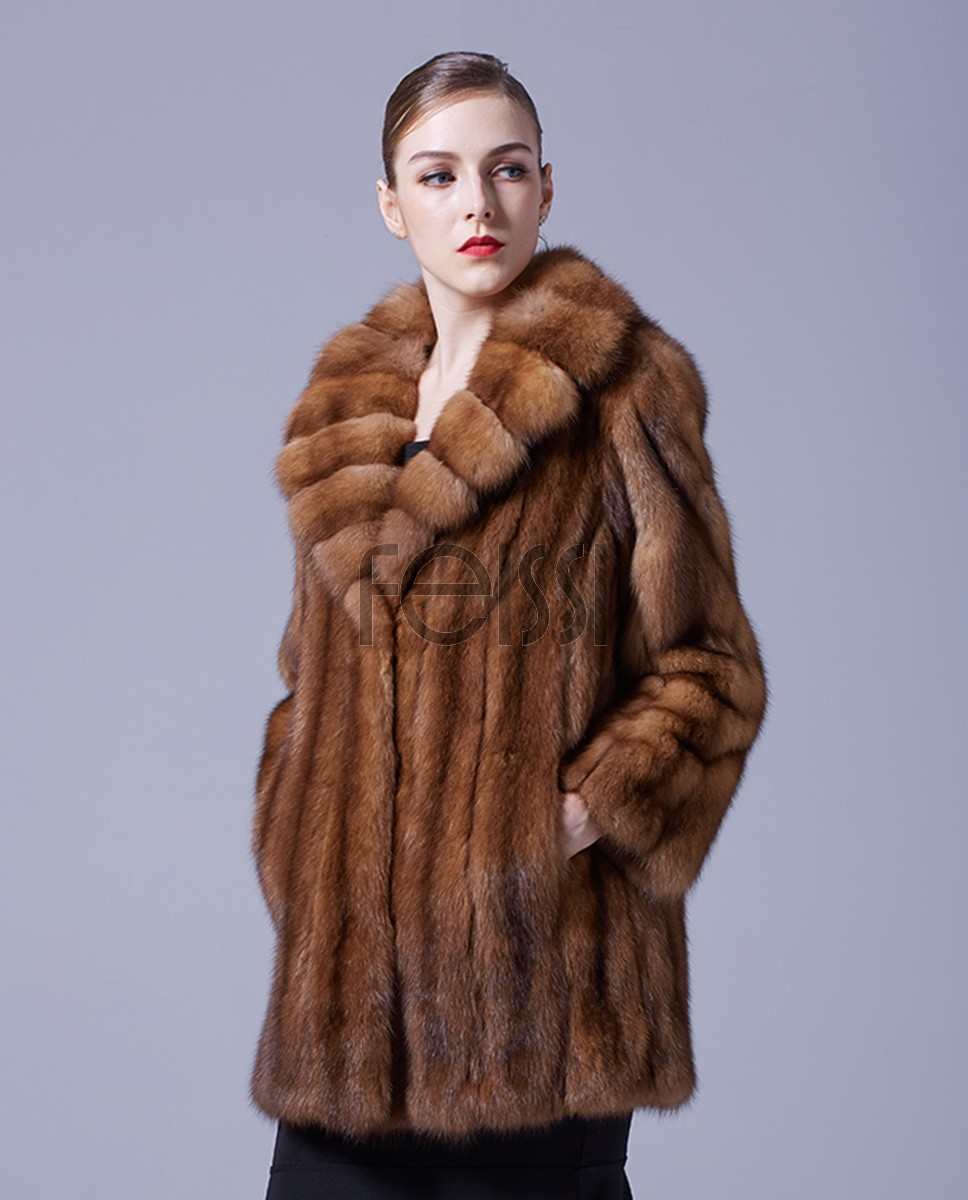 Sable Fur Coat 056a