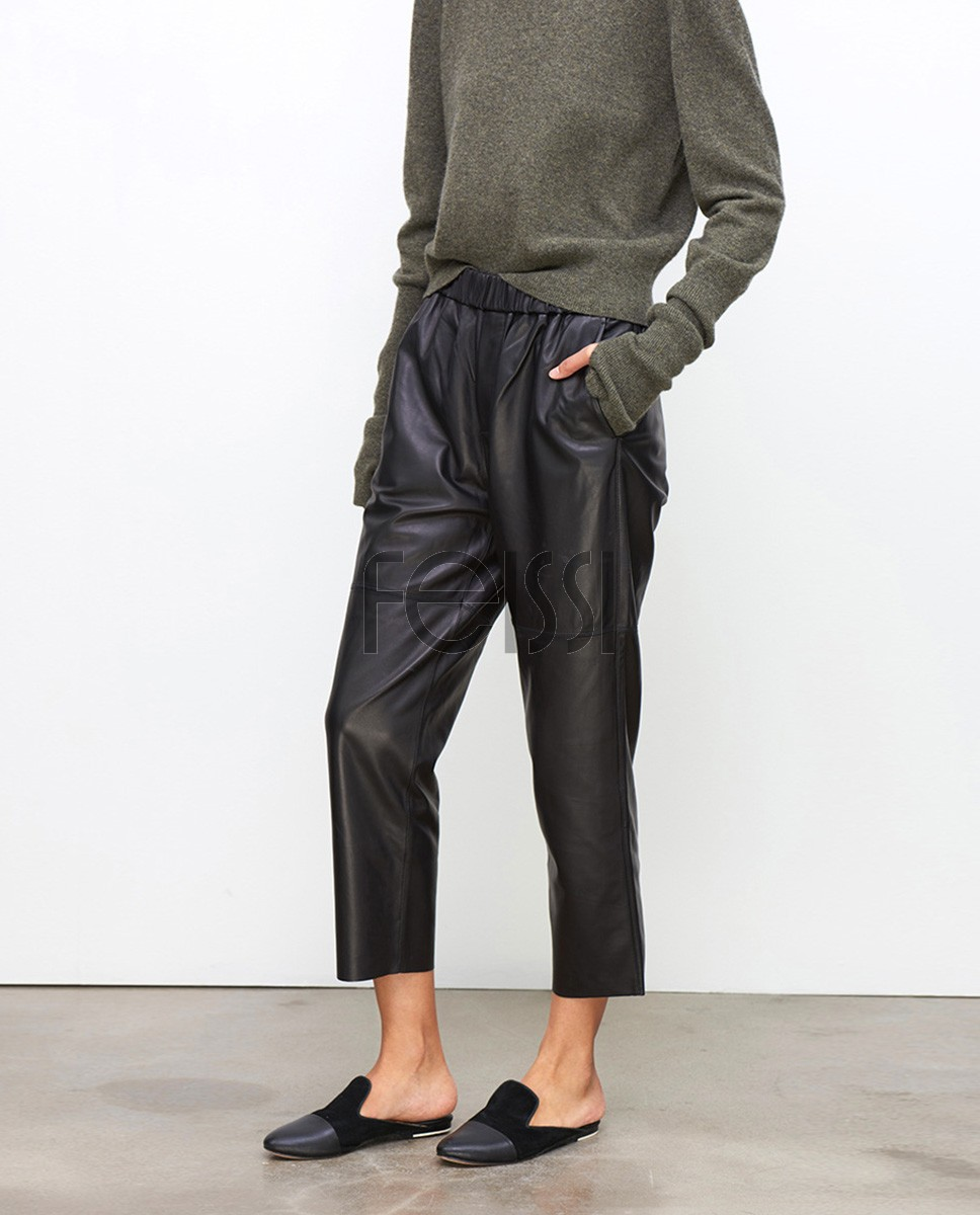 Sheepskin Real Leather Pants 023a