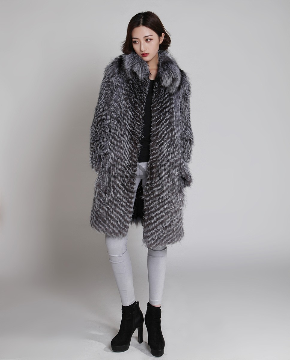 Silver Fox Fur Coat 731f