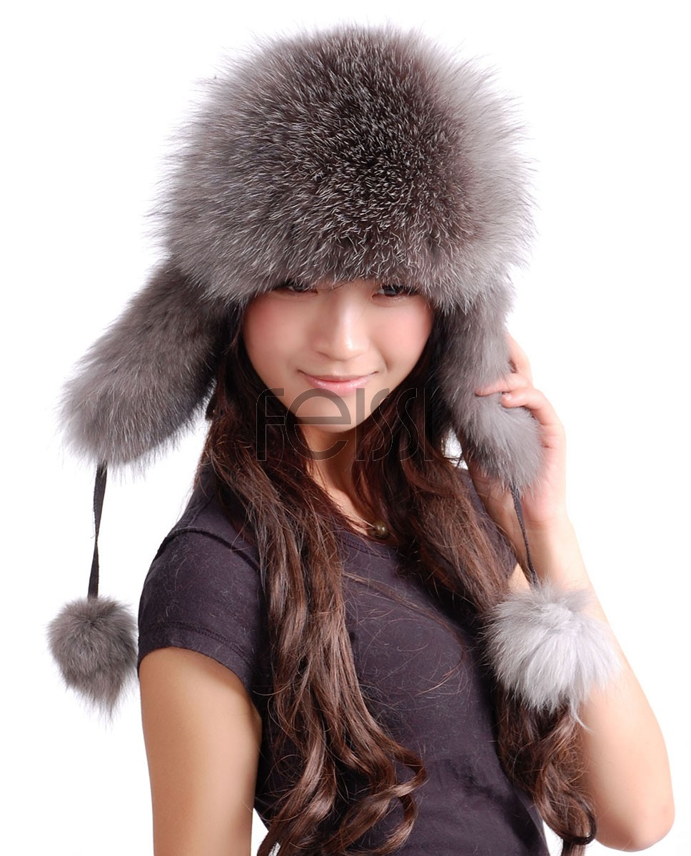 Silver Fox Fur Hat ffhaf05a