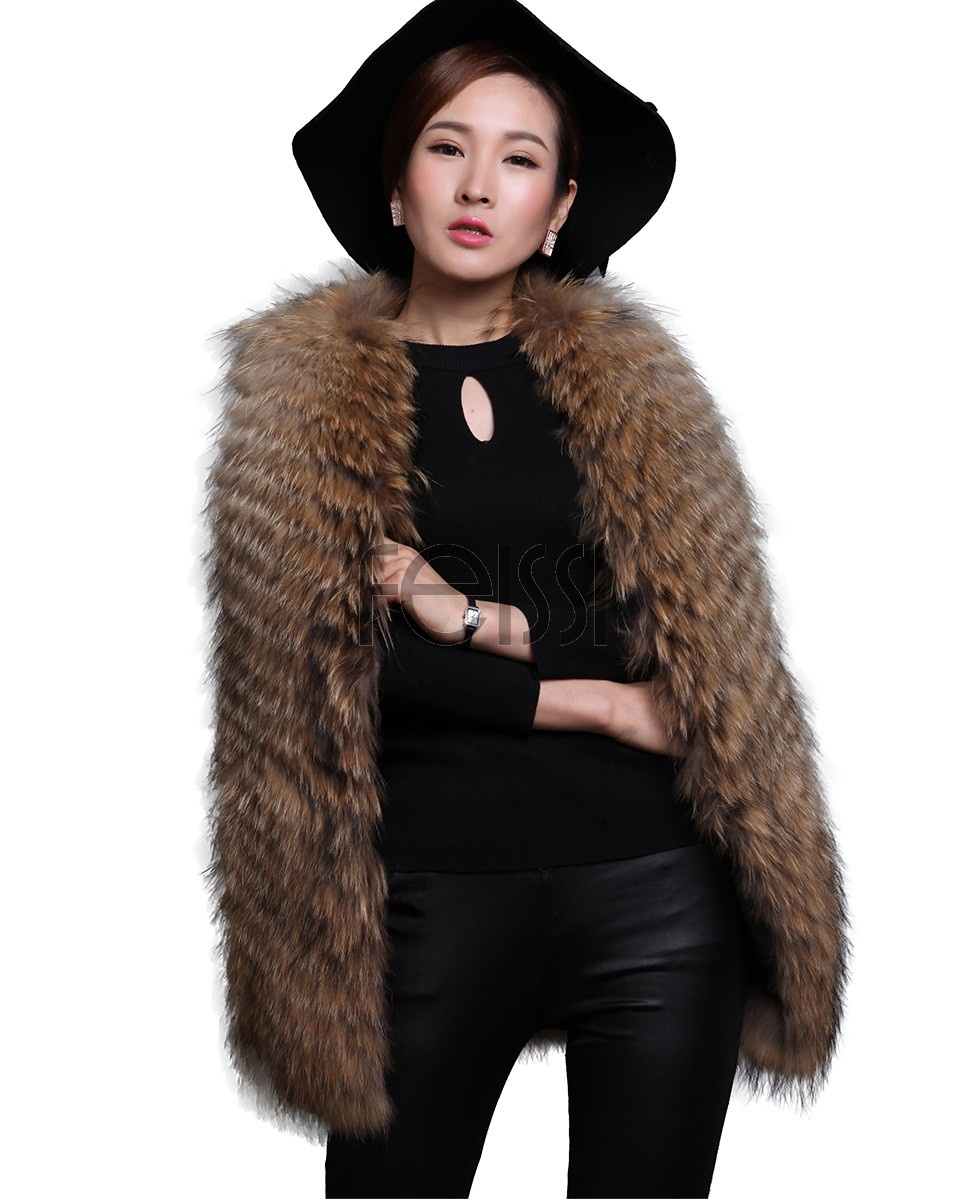 Women's Raccoon Fur Vest 603_1