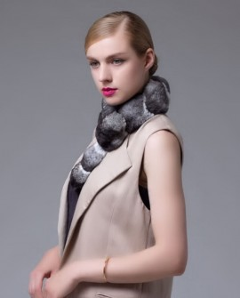 Chinchilla Fur Scarf, Collar