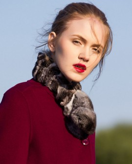 Chinchilla Fur Scarf, Wrap