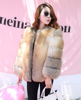 Golden Island Fox Fur Jacket