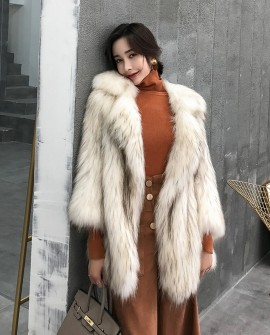 Knitted Raccoon Fur Jacket 308a
