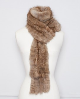 Knitted Sable Fur Scarf 264a