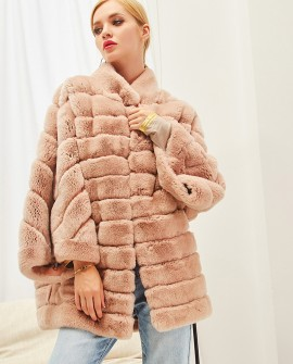 Rex Rabbit Fur Cape Jacket 292a