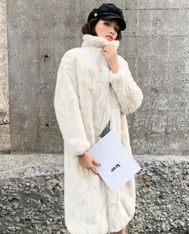 Rex Rabbit Fur Long Coat 0036bc