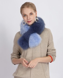 Two-tone Fox Fur Scarf 369a
