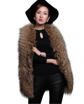 Women's Raccoon Fur Vest