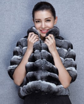 Cropped Chinchilla Fur Jacket