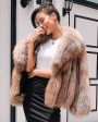 Cropped Chocolate Fox Fur Jacket 271a