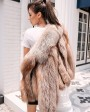 Cropped Chocolate Fox Fur Jacket 271d