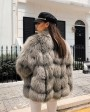 Cropped Silver Fox Fur Jacket 270h