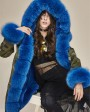 Fox Fur Trimmed Hooded Parka with Detachable Liner 133d