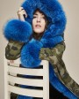 Fox Fur Trimmed Hooded Parka with Detachable Liner 133g