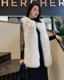 Fox Fur Vest with Mink Fur Back 0040e