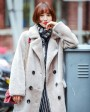 Full Length Shearling Lambwool Coat 700 Gray_7
