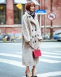 Full Length Shearling Lambwool Coat 700 Gray_9