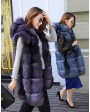 Hooded Fox Fur Vest 994b