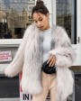 Hooded Knitted Fox Fur Jacket 276g