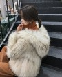 Hooded Knitted Raccoon Fur Jacket 307e