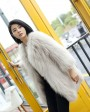 Knitted Raccoon Fur Coat 772 Beige 1