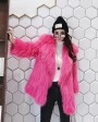 Knitted Raccoon Fur Jacket 931c