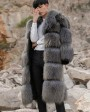 Men's Raccoon Fur Long Coat 399b