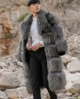 Men's Raccoon Fur Long Coat 399c