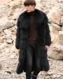 Men's Raccoon Fur Long Coat 399f