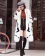 Mink Fur Long Coat With Fox Fur Trim 0094e