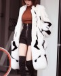 Mink Fur Long Coat With Fox Fur Trim 0094h