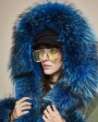 Raccoon Fur Trimmed Hooded Parka with Detachable Faux Rex Rabbit Fur Liner 122bd