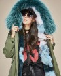 Raccoon Fur Trimmed Hooded Parka with Detachable Fox Fur Liner 116ae