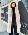 Rex Rabbit Fur Long Coat Khaki 0036h