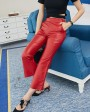 Sheepskin Real Leather Cropped Pants 021g